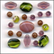 Old Rose Glass Beads Mix Fashion Flair Pink and Green
