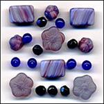Blue Bayou Glass Beads Mix Fashion Flair Blue Purple