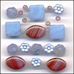 Moon Glow Glass Beads Mix Fashion Flair Blue Purple Red