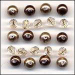 Caramel Coffee Glass Beads Mix Fashion Flair Beads