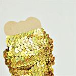 Gold Sequin Ribbon Trim {5.0m} DIY Craft Supply | Wedding Christmas Wrap