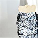 Grey Sequin Ribbon Trim {5.0m} DIY Craft Supply | Wedding Christmas Wrap
