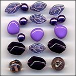 Grape Sorbet Glass Beads Mix Fashion Flair Purples
