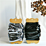 Black Sequin Ribbon Trim {5.0m} DIY Craft Supply | Wedding Christmas Wrap
