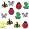 Brads Bugs Insects Jazzy Garden Critters Brads Pack of 12 Scrapbooking Cards