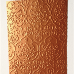 15 x pieces of embossed shimmer paper - orange