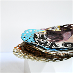 Newspaper Print Paper Doilies | Paper Doilies | Recycled Vintage Style