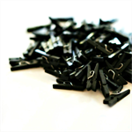 Black Mini Pegs {100}  {25mm} Wood   Engagement   Photo Prop   Black Tie Event