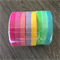 WASHI TAPE  THIN SKINNY 5MM GELATI SOLID COLOUR SET - 8 ROLL SET FREE POST
