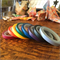 WASHI TAPE  THIN SKINNY 5MM BOLD SOLID COLOUR SET - 8 ROLL SET FREE POST