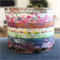 WASHI TAPE  THIN SKINNY 4MM BEAUTIFUL BOTANICALS 9 PIECE SET - FREE POST