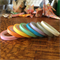 WASHI TAPE  THIN SKINNY 5MM PASTEL SOLID COLOUR SET - 8 ROLL SET FREE POST