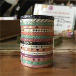 WASHI TAPE  THIN SKINNY 3MM FOIL 16 ROLL SET - FREE POST