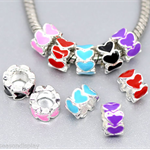 Enamel Heart Beads