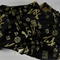 Asian brocade fabric, BLACK, home decor, art quilt, craft