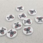 Destash printed koala wooden tiles
