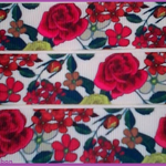 1 Metre, RED FLOWERS, 22mm, Grosgrain Ribbon, 7/8, Crafts, Hair