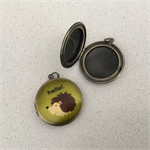 2 x printed brass lockets