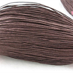 10mts Chocolate Brown Waxed Cotton Necklace Cord 1mm