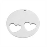 Stainless Steel Stamping Blank - Hearts