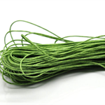 10mts Green Waxed Cotton Necklace Cord 1mm