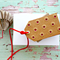 Kraft Brown and Red Gift Tags | Embossed Kraft Tags | Studded Kraft Tags