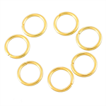 100 Gold Plated Open Jump Rings 8mm