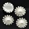 4 x Rhinestone Acrylic Pearl Embellishments