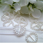 25 Pearl Ribbon Buckle Sliders - Gift Wrapping