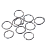 100 Silver Tone Open Jump Rings 7mm