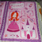 Cot quilt panel with backing(Princess)