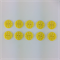 10 x Polkadot Buttons   18 mm   Yellow with White Spots   Plastic   2 Holes