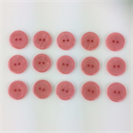15 x Pearly Top Buttons | 20 mm Diameter | Peach | Peachy |  Plastic | 2 Holes