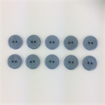 10 x Pearly Top Buttons | 20 mm Diameter| Smokey Denim Blue | Plastic | 2 Holes