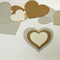 Diecut Hearts (30), Cardboard Hearts, Ornament Base, Recycled Craft Materials