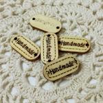 Destash Wood Buttons, Handmade Buttons, Small Wooden Buttons, Buttons for craft,