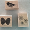 3 Stamps - Butterfly, Boho Blossoms, Two-Step Bird.  Free postage.