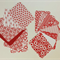 Red and White Journaling Cards, ATC Supply Material, Scrapbooking Paper Pieces