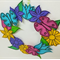 Flower Wreath Printable Papercraft, Craft for adults and children, Decorations