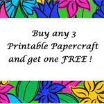 Buy Three, Get One Free, Printable Papercraft Multiple Purchase Listing