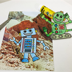 Robot Printable Papercraft, DIY Craft for adults and children, Sci-fi themes