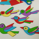 Little Birds Printable Papercraft, DIY Craft for adults and children, Party Game