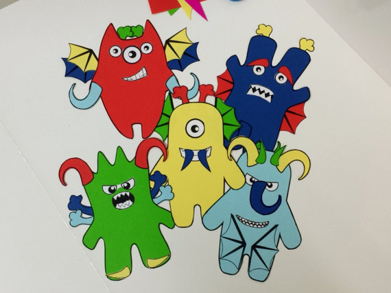 graphic relating to Mash Game Printable named Monster Mash Printable Papercraft, Do-it-yourself Craft for older people and