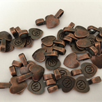 10 x copper Heart Bails