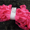 Hand Dyed Crinkle Ribbon - Hot Pink