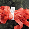 Hand Dyed Crinkle Ribbon - Fired Brick
