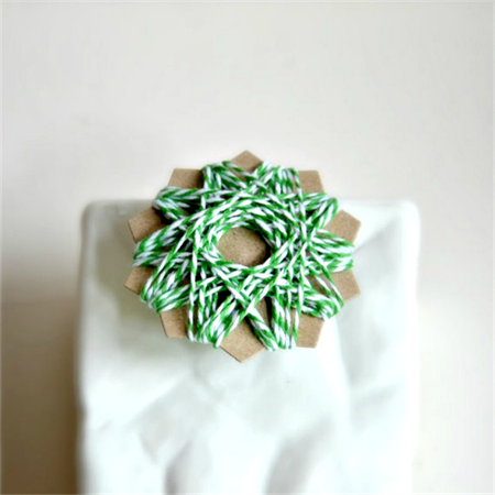 Green + White Bakers Twine {10m} | Pink Striped Twine | Baby Girl Party | DIY