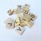 20 wooden Scrabble Tiles