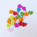 50 Snail Buttons - Assorted Colours