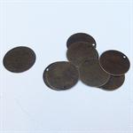 50 Round Bronze Tone Stamping Blanks